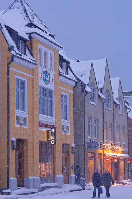 Verdensteatret on a snowy winter's day © Baard Loeken