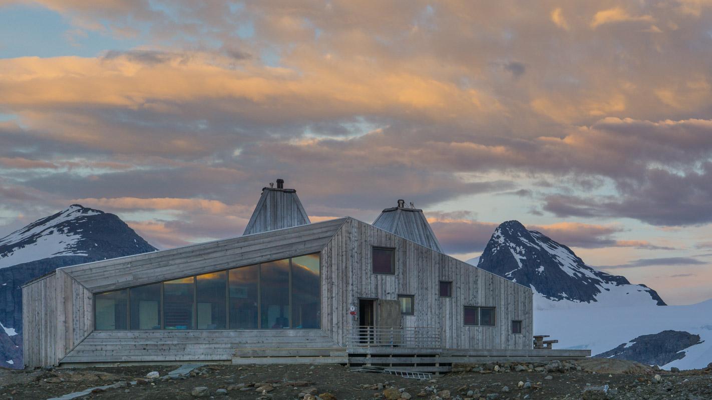 The Rabot Cabin at 1200 metres latitude displays cutting edge architecture among the highest peaks in Northern Norway © Jan Inge Larsen - Helgeland Photo