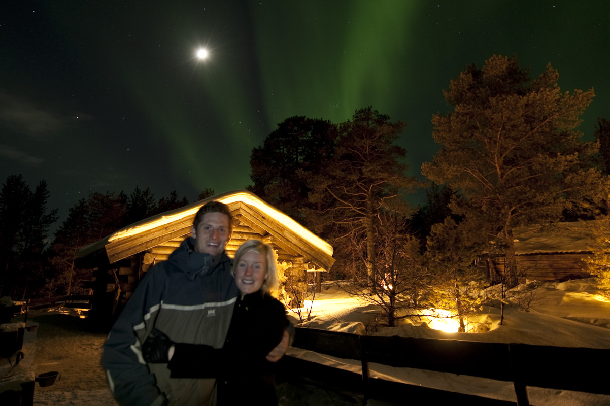 You may take a profile picture with the Northern Lights in the background © Liv Engholm