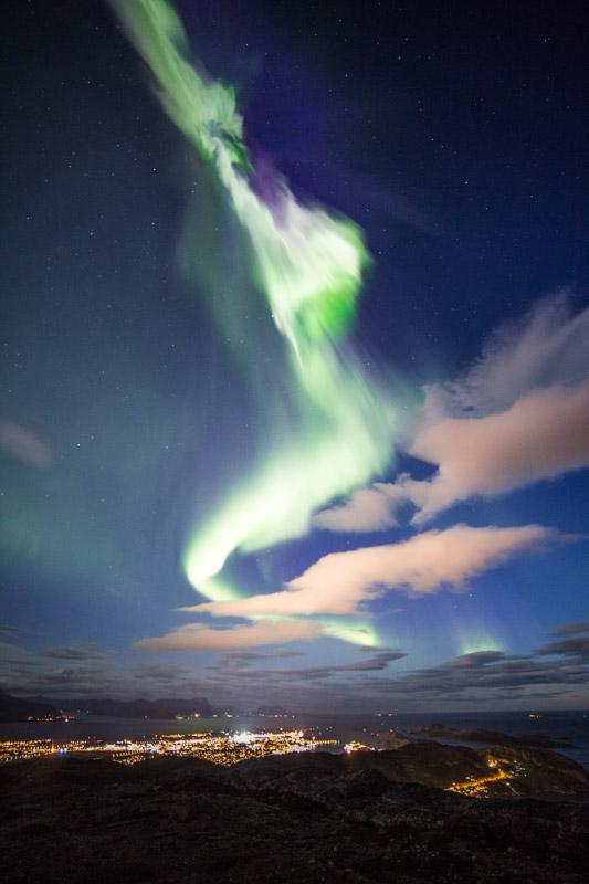 Northern lights over Bodø (c) Petter Formo