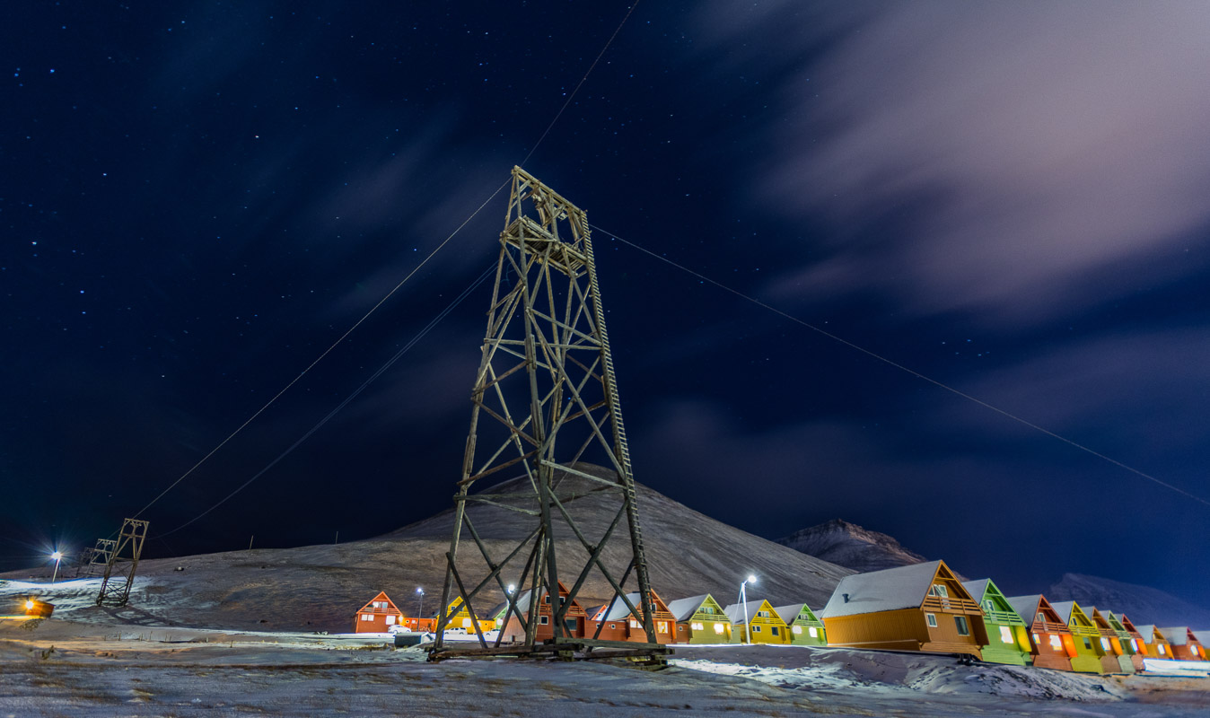 Longyearbyen in the Polar Night © Jarle Røssland