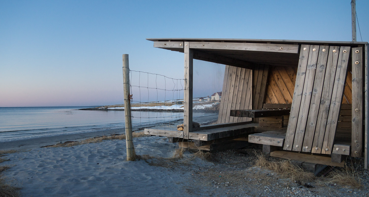 Bird watching hut constructed and set up by Biotope Architecture & Nature. © Foto: Trine Kanter Zerwekh / Statens vegvesen