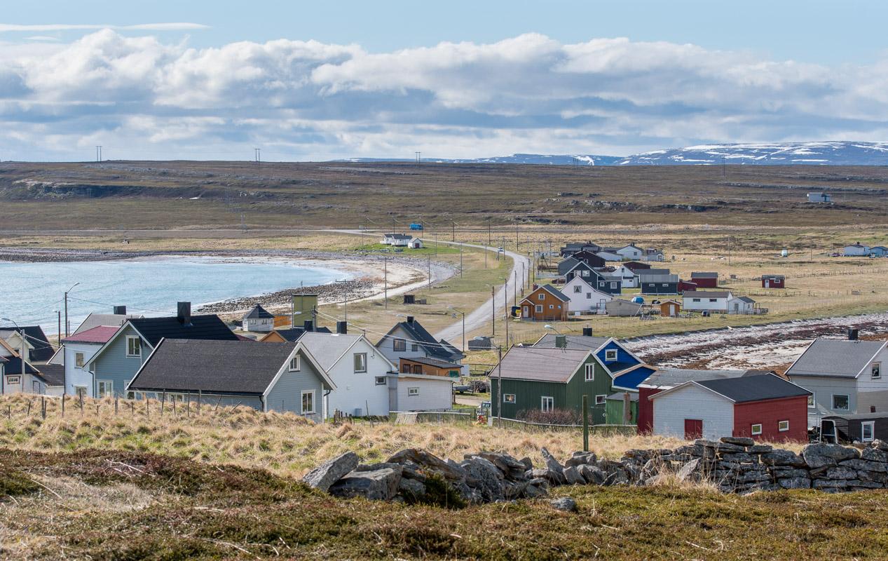 Veien fra E-75 inn til Ekkerøya ved Varangerfjorden.  © Jarle Wæhler/Statens vegvesen