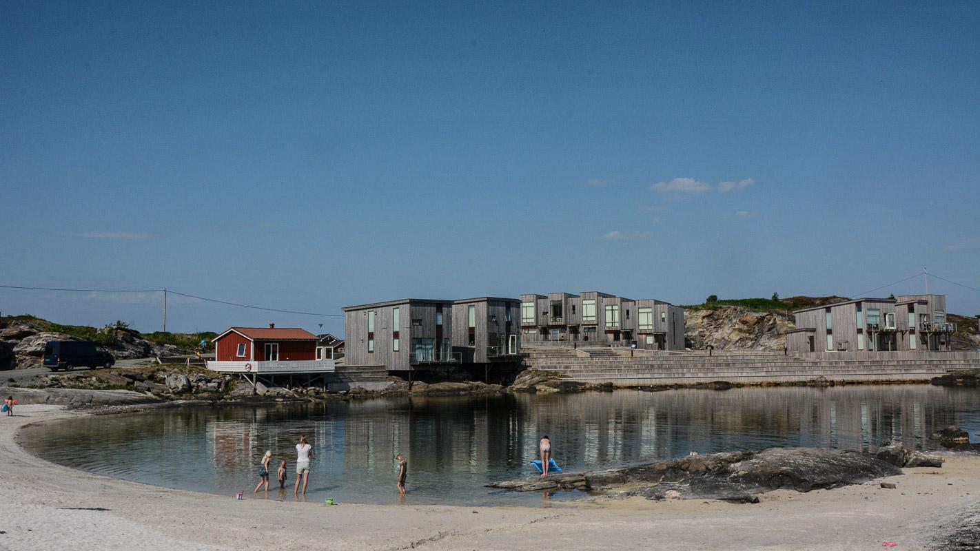 Den nye bebyggelsen er ny, men glir pent inn i det gamle (c) Knut Hansvold