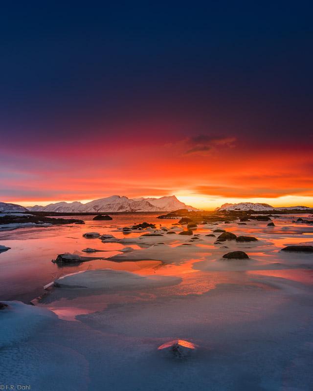 Sånn ser det ut i Bodøsjøen på en fin vinterdag (c) Frank Dahl