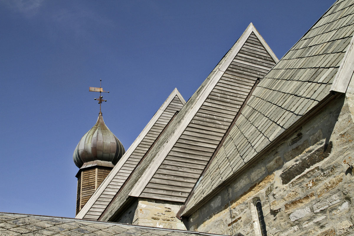 Sakristi, kor, skip og løkkuppel på Dønnes kirke © Tore Schöning Olsen