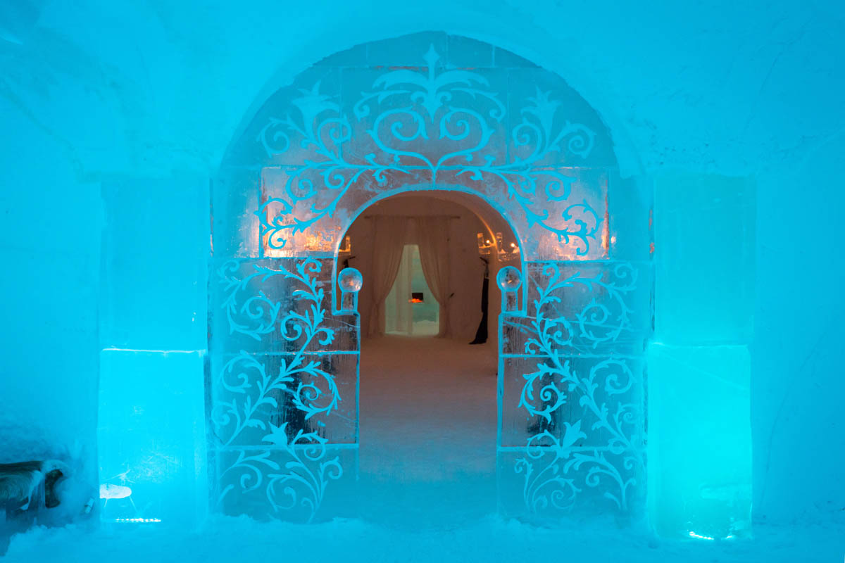 Over the years the ice hotel has gained many unique features - (C) Konrad Konieczny