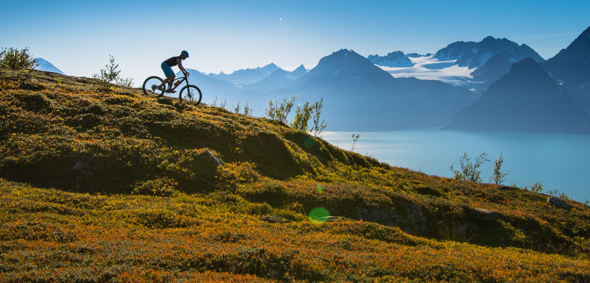 Summer time offers cycling and hiking trips, all possible from stopping places on the roads © Anna Rieblova