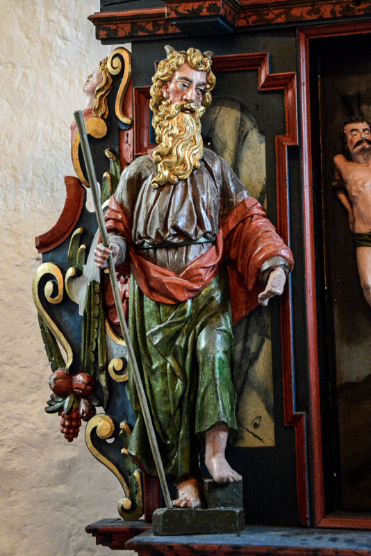 Moses on the alter in Alstahaug church © Knut Hansvold