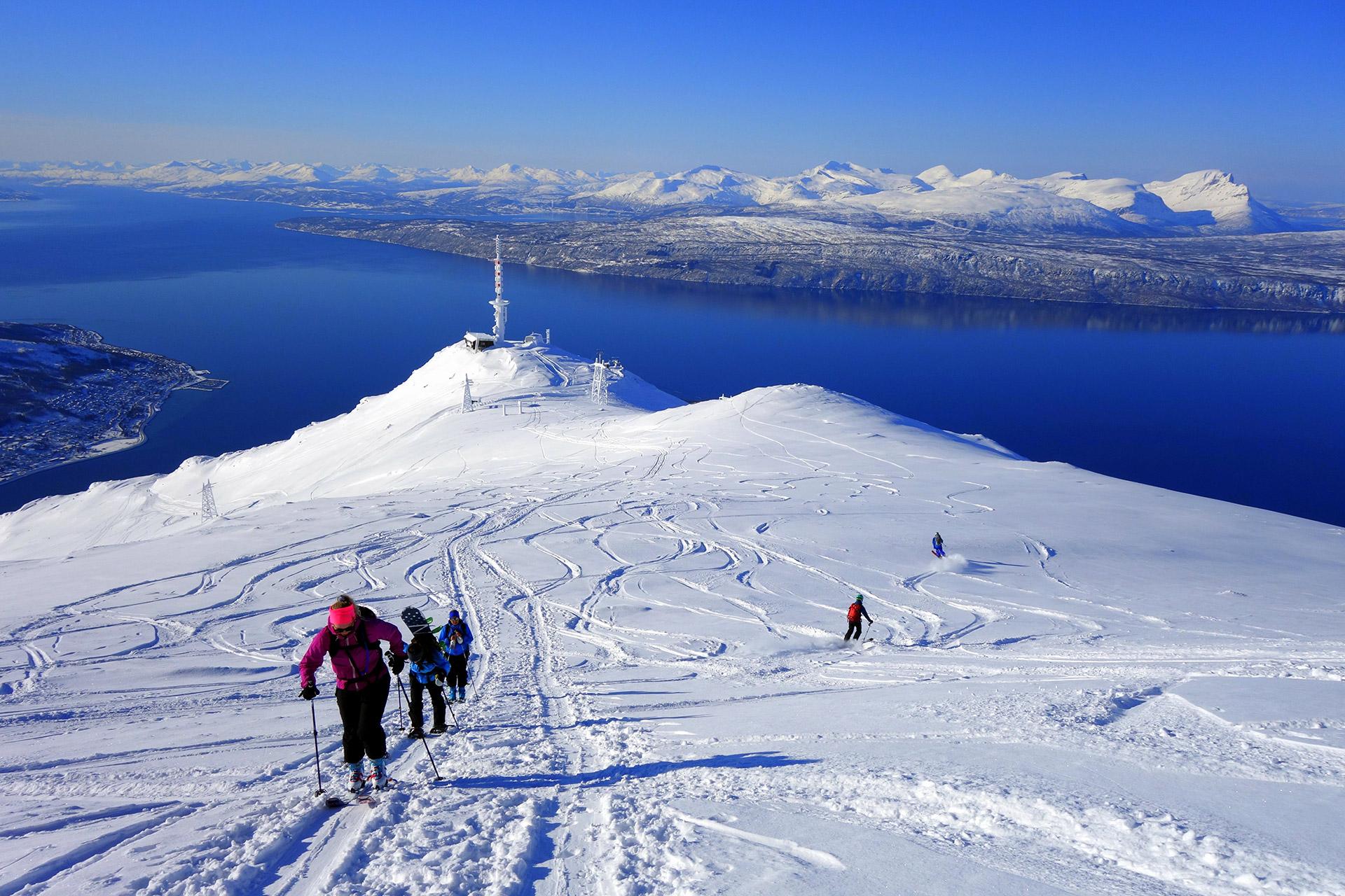 Offpiste i over 1000 meters høyde © Narvikfjellet
