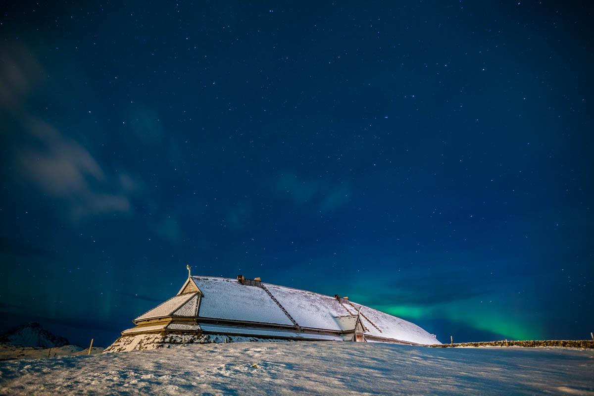 Lofotr Vikingmuseum kan også besøkes om vinteren - Kjell Ove Storvik