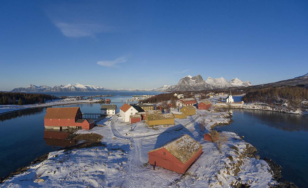 Kjerringøy centre in vinteren