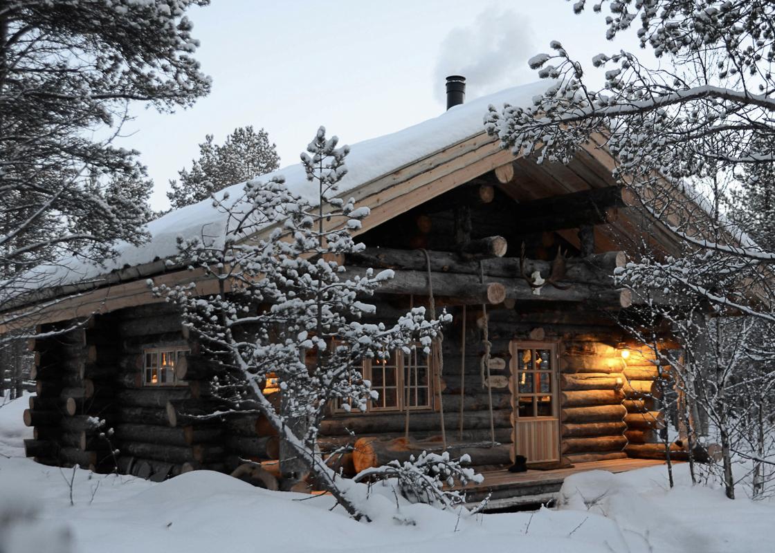 Når tempen er på -20, er det godt å komme til Engholm Husky Design Lodge (c) Engholm Husky Design Lodge