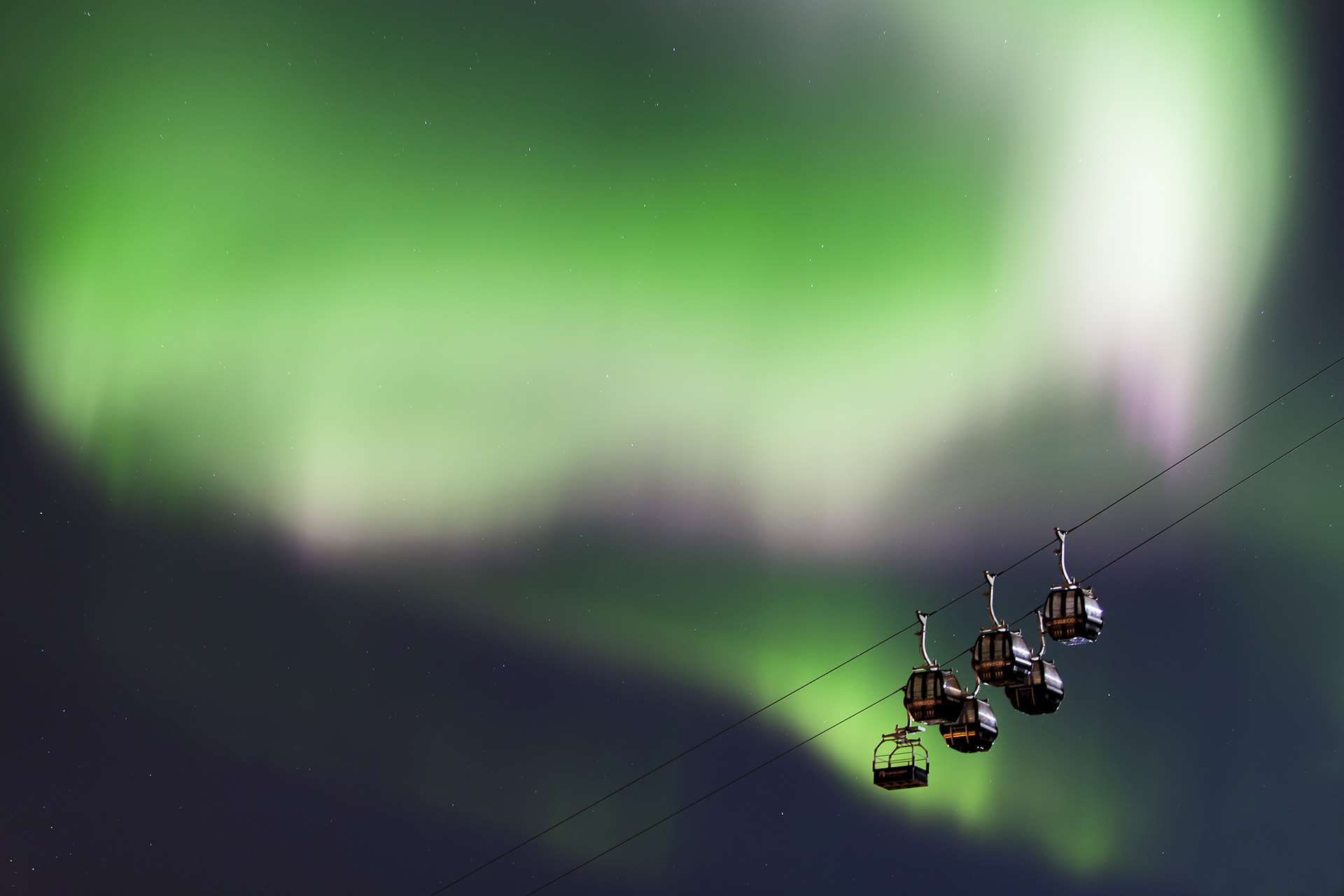 Nordlys i bakken © Jan Arne Pettersen