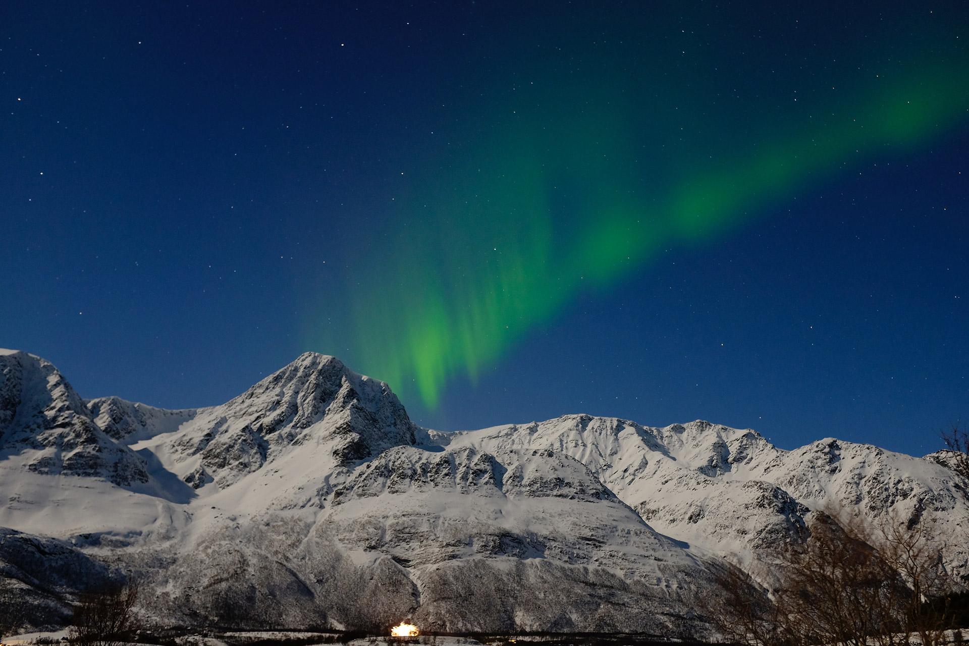 Nordlys over Lyngsalpene © Johannes Ehrlich