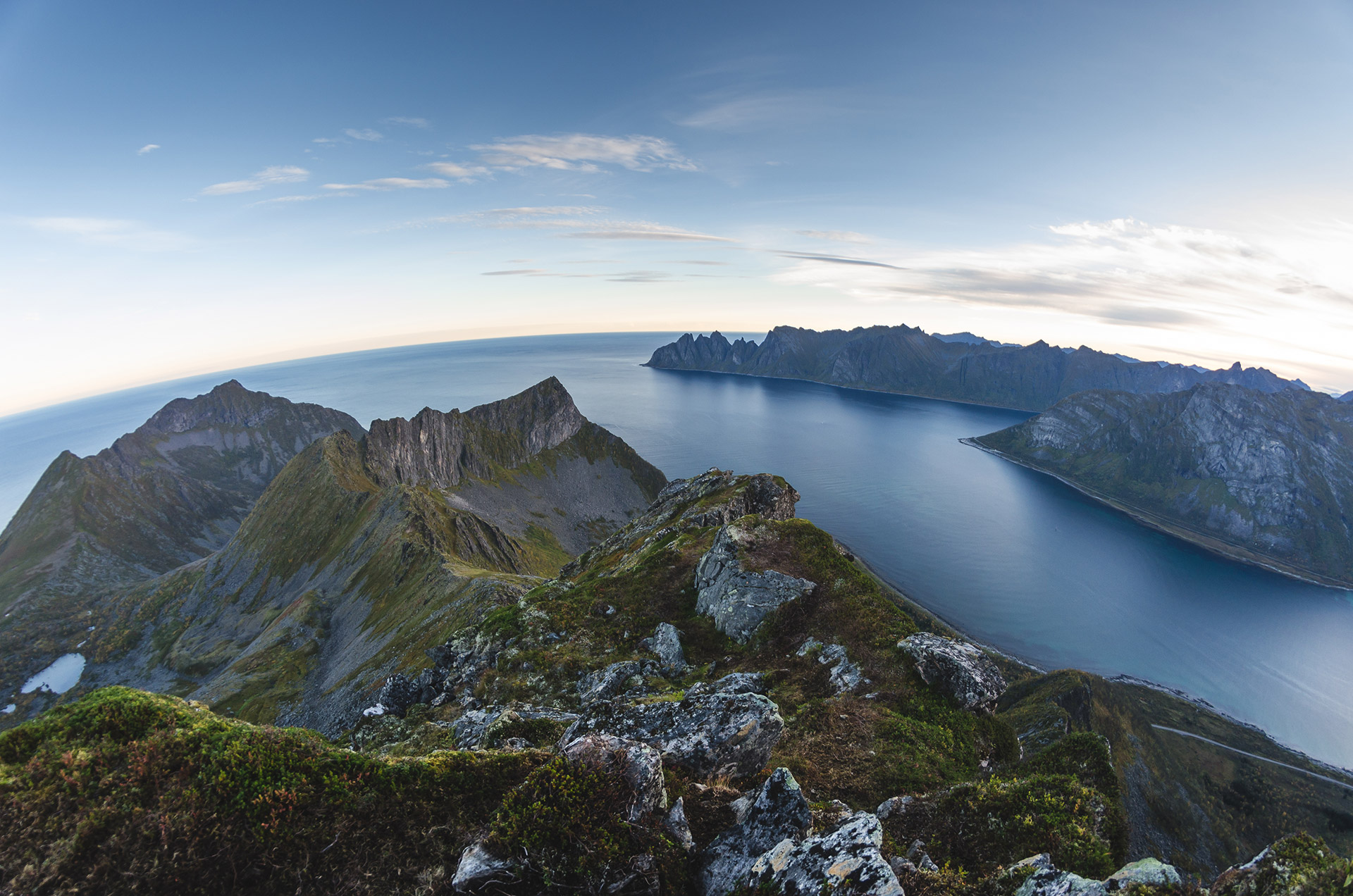 Senja is known for the characterstic mouintains
