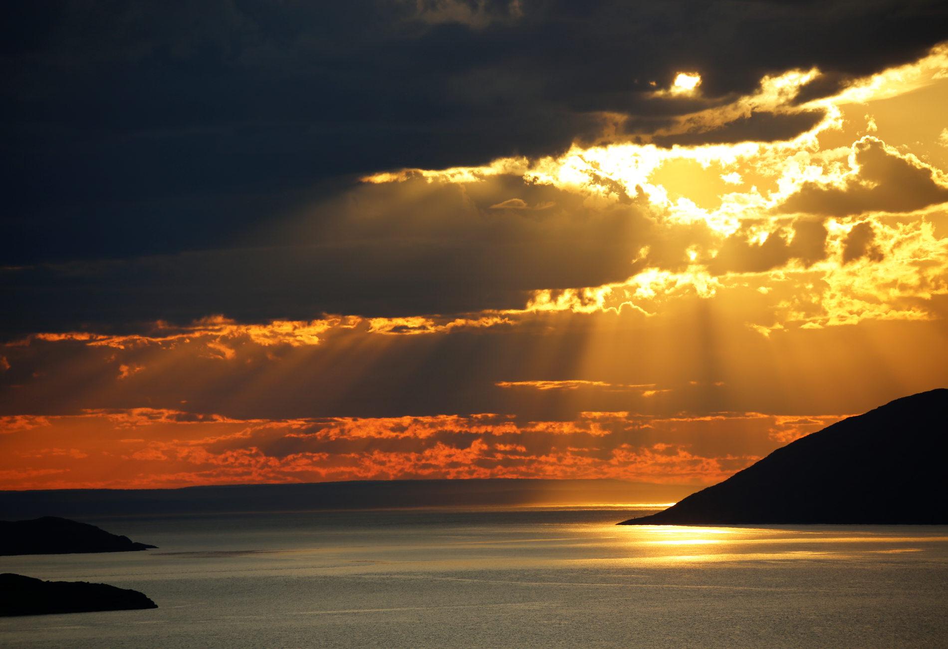 Sol og skyer mot horisonten © Nord Norge