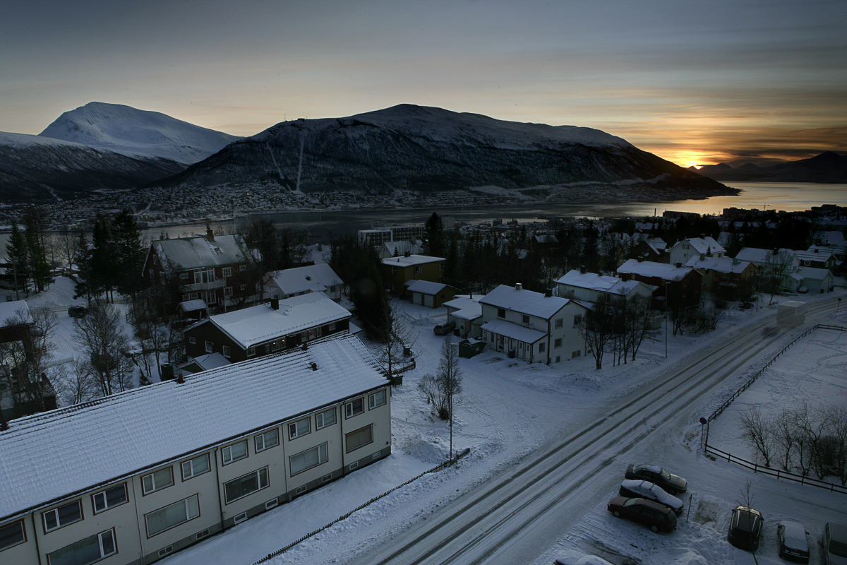 THERE is the sun in Tromsø on the 21st of January © Yngve Olsen Sæbbe