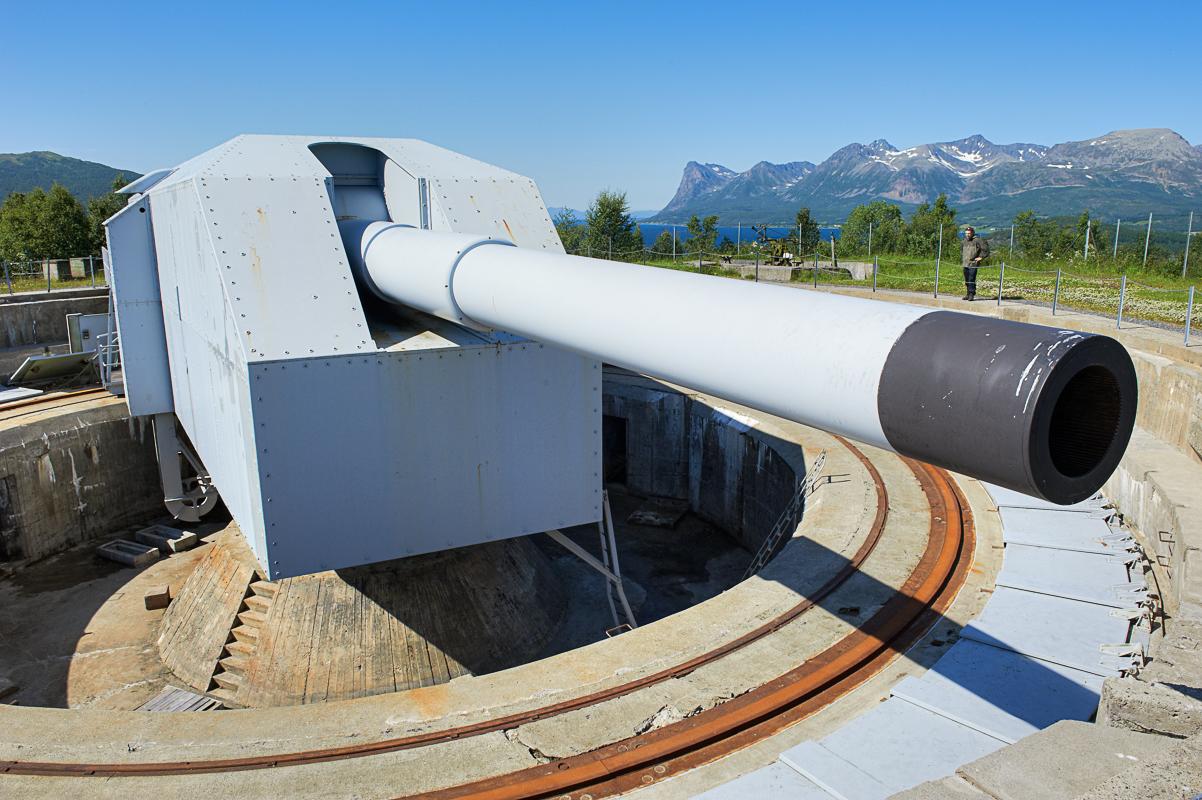 Adolfkanonen var et formidabel våpen som kontrollerte skipstrafikken inn mot Narvik © Bård Løken