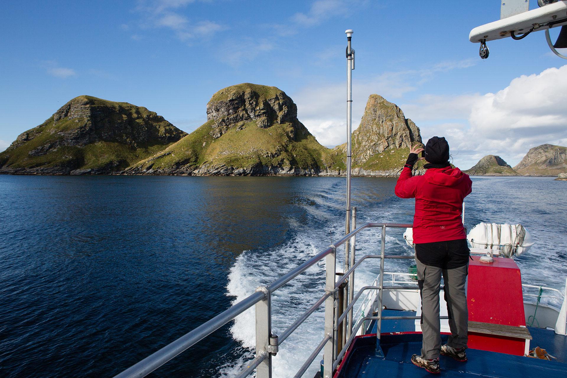 Ferga til Røst går over åpent hav i fire timer © Kristin Folsland Olsen