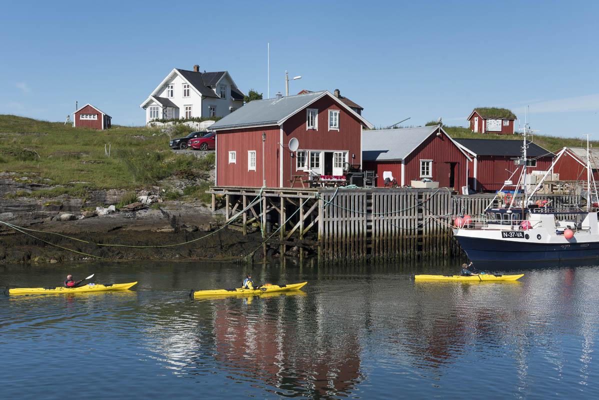 Padle kajakk på Helgeland