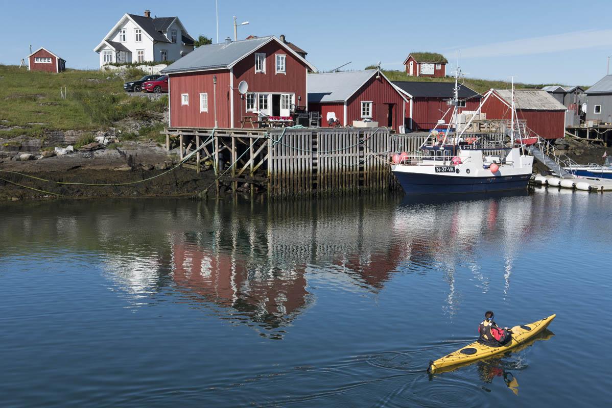 Vega er fint sted å padle kajakk, Vega ligger på Helgeland