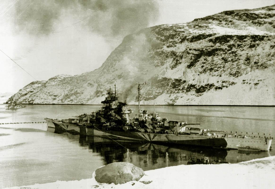 Skipet sett ovenifra (©) Tirpitz Museet
