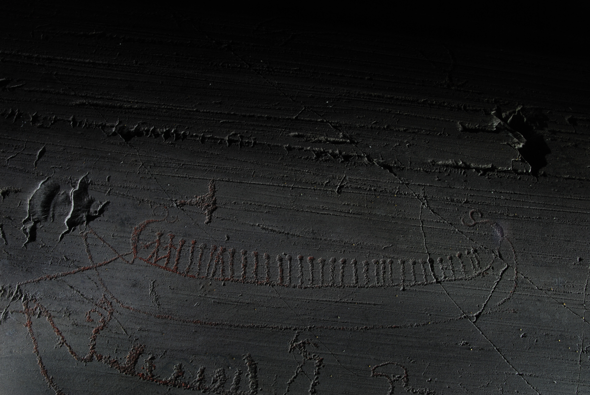 A ship with people from the younger rock carvings (c) Karin Tansem/Alta Museum