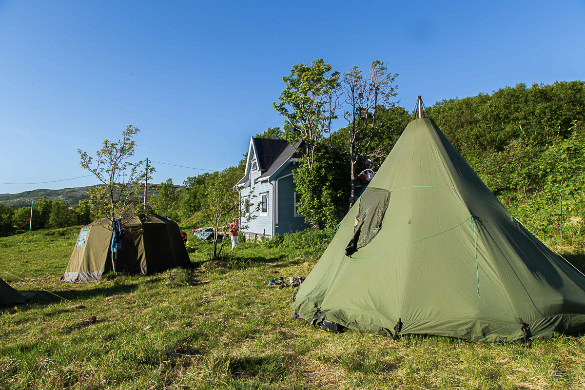 The location is now a campsite which you can stay at when planning in advance (c) Tine Hagelin