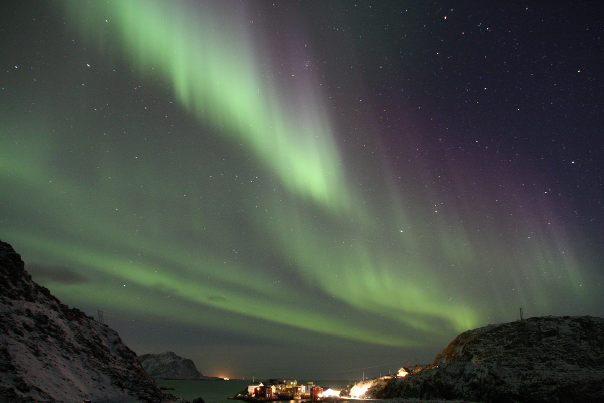 Nordlys i Nyksund © Cecilie Eckert