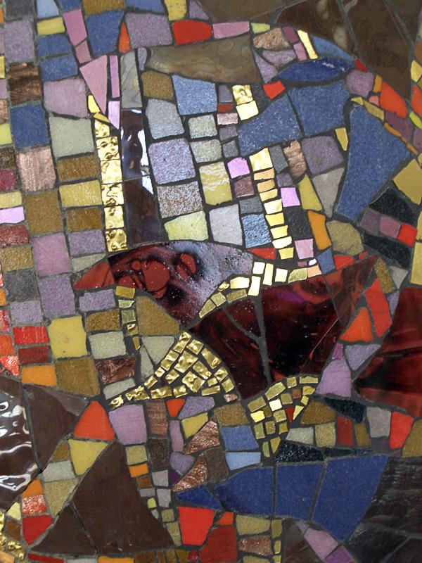 Mosaikk i fondvegg (c) Juhls Silver Gallery