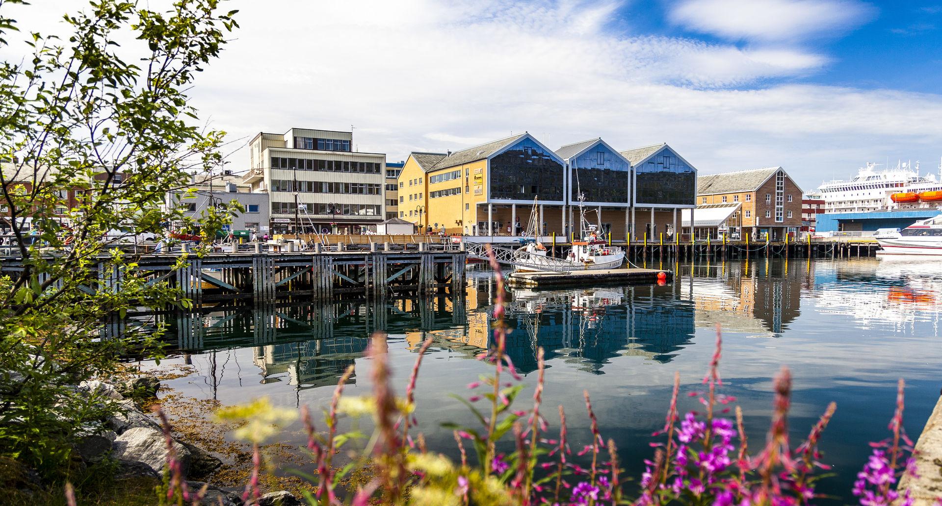 The Hurtigruten calls at Hammerfest on a beautiful day of Summer © Ziggi Wantuch