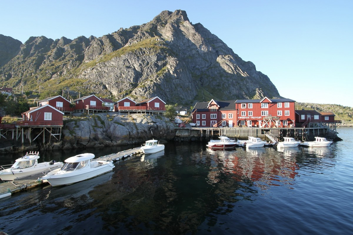 Museet ligger i midt i havna på Å © Lofoten Tørrfiskmuseum