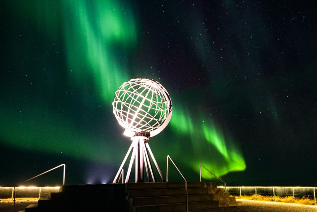 Northern Lightr at the North Cape (c) Knut Hansvold