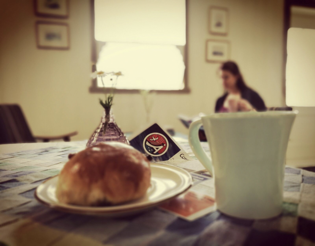 Buns and coffee in the café © Norsk fiskeværmuseum Lofoten