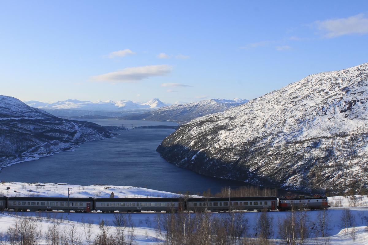 Ofotbanen during winter © Thor Brækkan