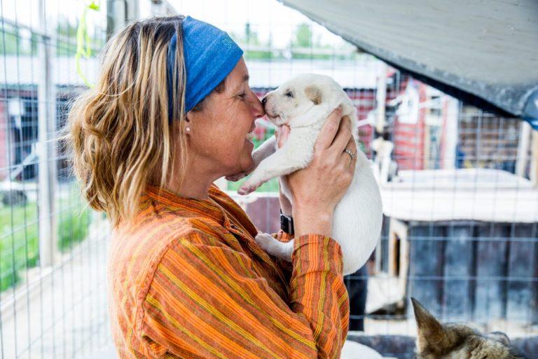 Kanskje du får hilse på valpene når du er på besøk? © Trine Sara Johannessen