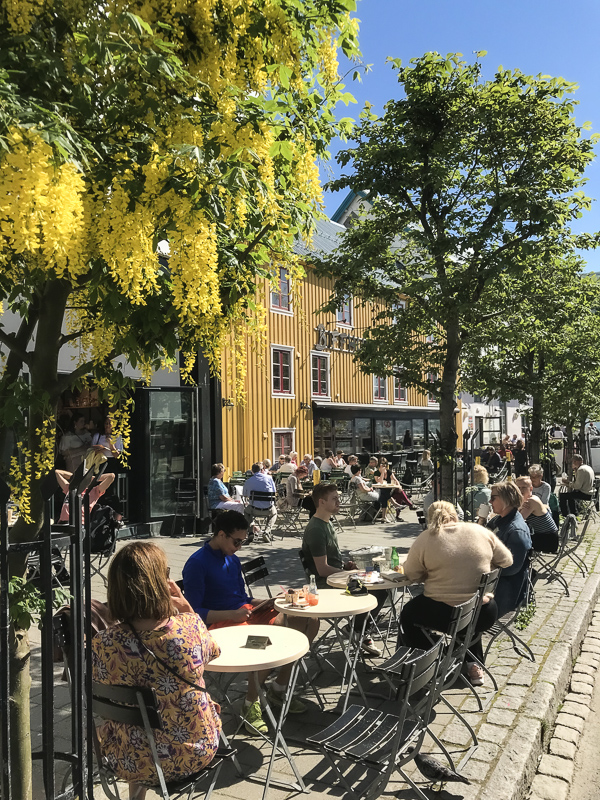 When the sun is out, the cafes fill up. It's important to enjoy those precious hours of sunlight before the long winter © Knut Hansvold