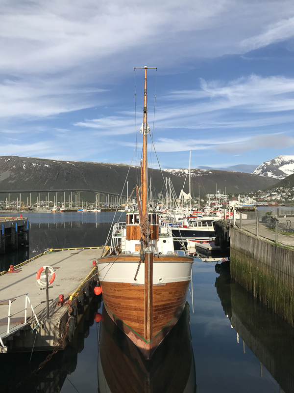"""Good old """"Hermes"""" from 1919 is one of the beauties you can meet on a walk along the docks © Knut Hansvold"""
