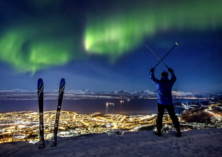 Northern Lights at the City of Narvik © Michael Ulriksen