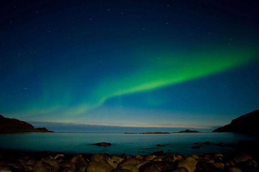 Sommarøy har nordlys