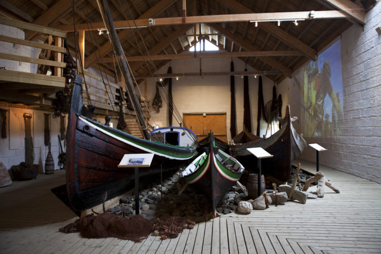 A collection of Nordland boats in the museum © Hans Arne Paulsen