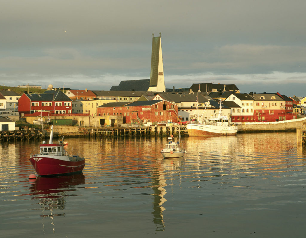 Port of Vardø in the Midnight Sun