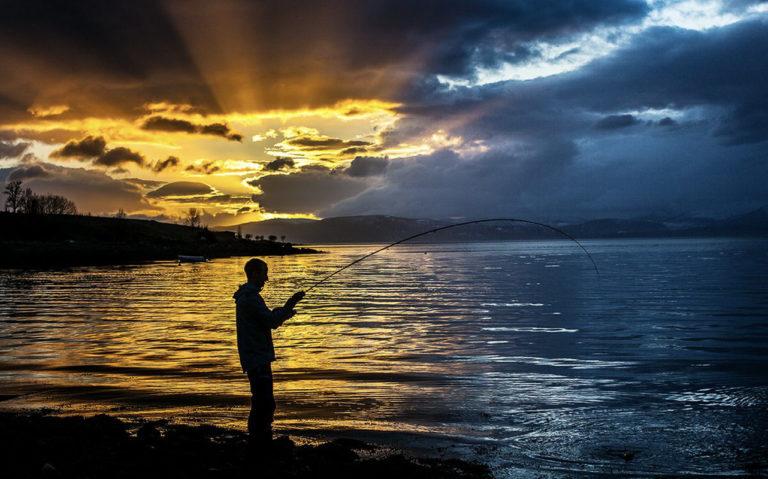 Når sola slåss med skyene blir det flott lys © Michael Ulriksen