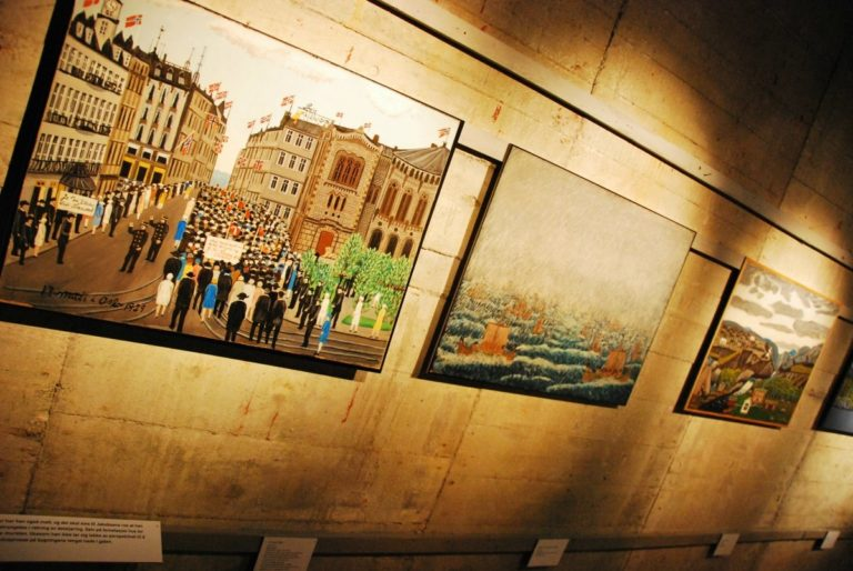 Art exhibition in the bunker © Knut Hansvold