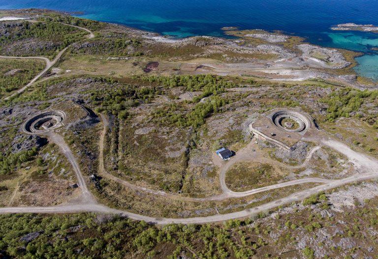An aerial view of the battery © Ernst Furuhatt/Nordlandsmuseet