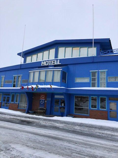 Et blått hotell? © Siw Sandvik