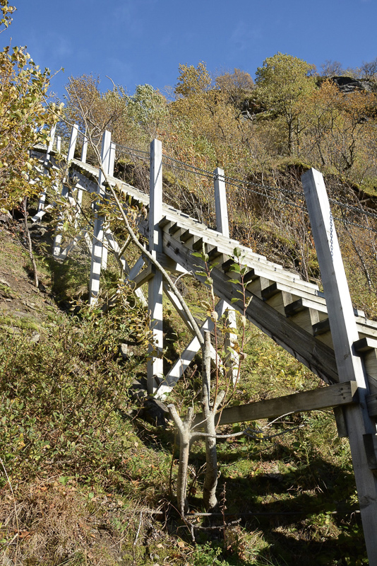 Fykantrappa, the staircase with 1100 steps built to lead workers up to the upper reaches of the Hydro Electric Power station © Knut Hansvold