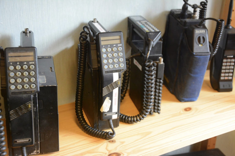 """The little museum has it all, even the old """"portable"""" mobile phones © Knut Hansvold"""