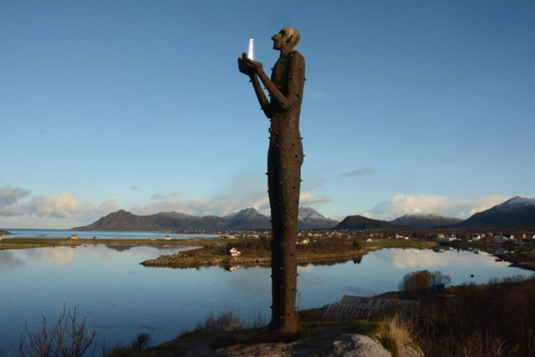 The man from the sea looking out over the calm waters © Knut Hansvold